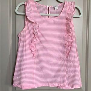 Pink/white striped linen Jcrew tank